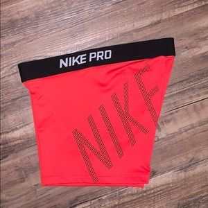 red nike pro spandex